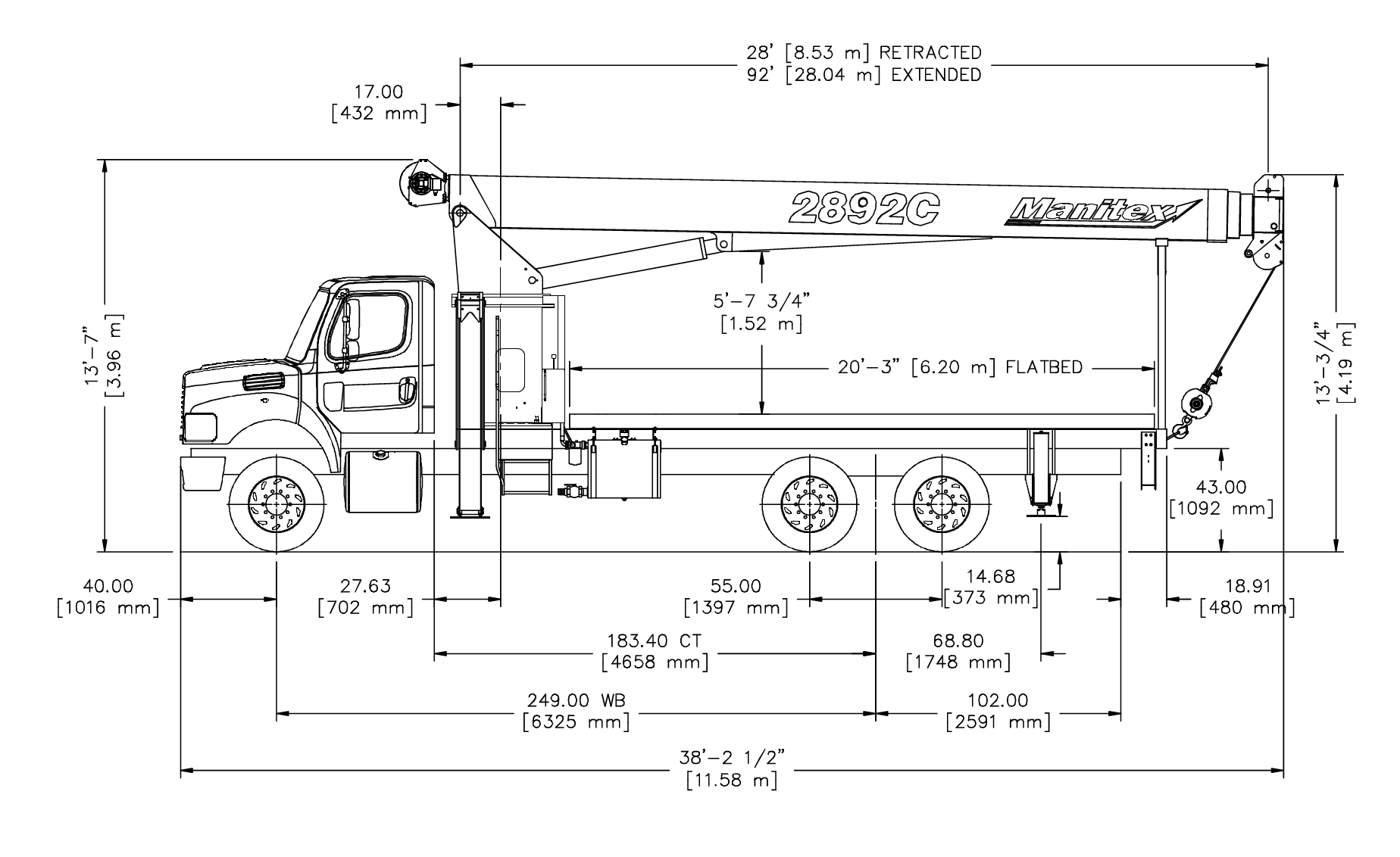 30 Ton Manitex Drawing