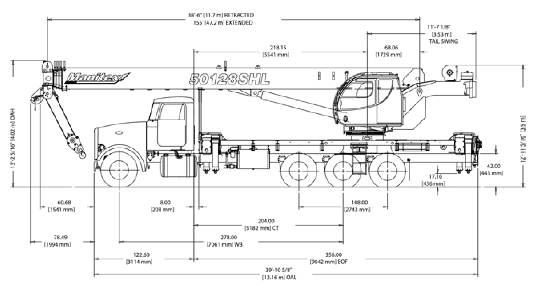 50Ton Manitex Drawing